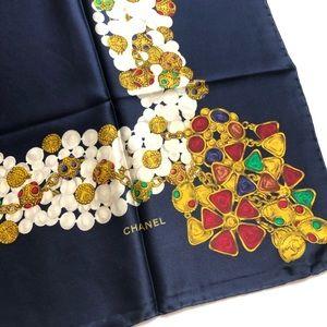 CHANEL Accessories - CHANEL Pink XL Jewel Motif Jumbo Silk Ital…